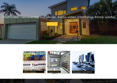 Elektro Džindo web prezentacija